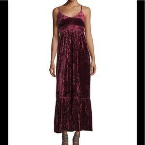 Romeo & Juliet Couture Dark Red Velvet Maxi